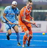 BHUBANESWAR  (INDIA)  -  Mirco Pruijser tijdens de wedstrijd tussen de mannen van Nederland en India  voor  Champions Trophy Hockey. ANP PHOTO  KOEN SUYK