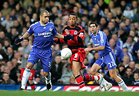Photo: Tom Dulat.<br /> <br /> Chelsea v Queens Park Rangers. FA Cup Third Round. 05/01/2008. <br /> <br /> Dexter Blackstock of Queens Park Rangers and Alex of Chelsea with the ball.