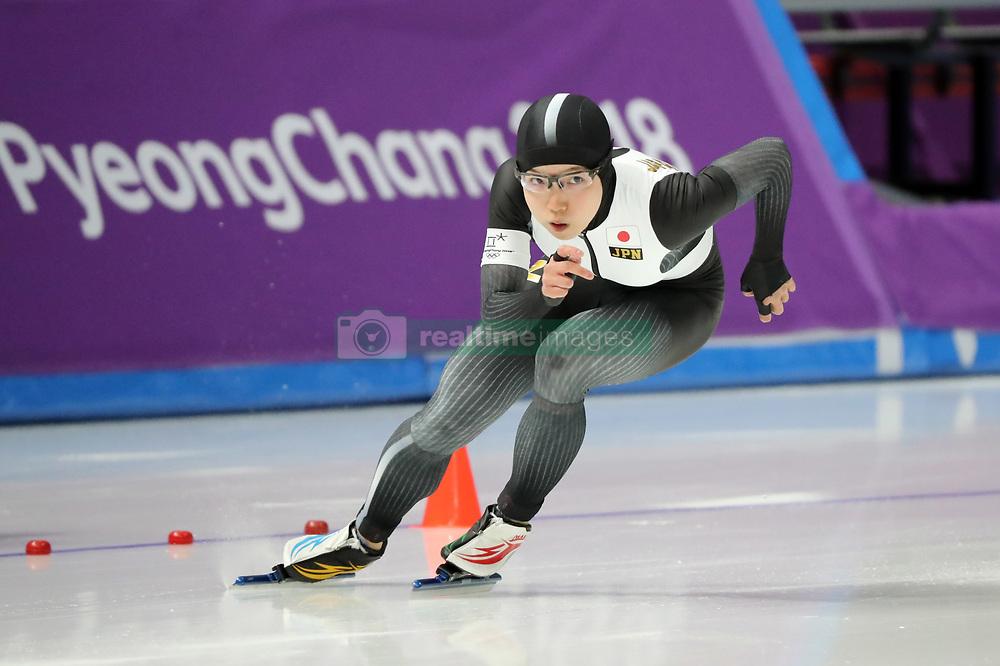 February 18, 2018 - Gangneung, South Korea - Gold medal winner NAO KODAIRA of Japan during Speed Skating: Ladies' 500m at Gangneung Oval at the 2018 Pyeongchang Winter Olympic Games. (Credit Image: © Scott Mc Kiernan via ZUMA Wire)