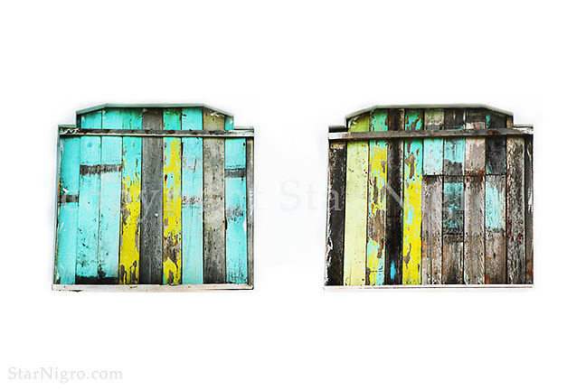 Tropical Shutters by Star Nigro<br /> <br /> about: beach scene from Muisne, Ecuador