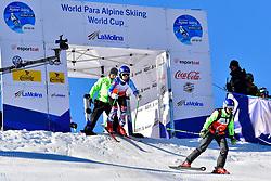 KUBACKA Marek, Guide: ZATOVICOVA Maria, B1, SVK, Giant Slalom at the WPAS_2019 Alpine Skiing World Cup, La Molina, Spain