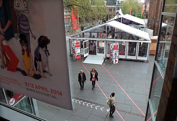 Nederland, Nijmegen, 10-4-2014Go Short filmfestival bij filmhuis Lux op het Marienburg. het is een internationaal filmfestival voor korte films, minder als 10 minuten.Foto: Flip Franssen/Hollandse Hoogte