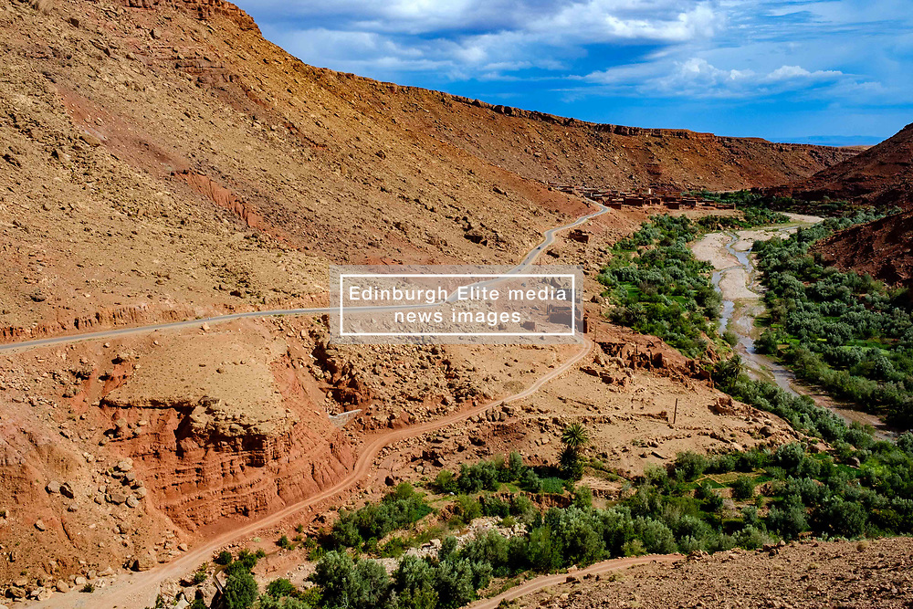 The mountain road leading to the village of Taïfaste in southern Morocco<br /> <br /> (c) Andrew Wilson | Edinburgh Elite media