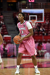 05 February 2016: Octavia Crump(3). Illinois State University Women's Redbird Basketball team hosted the Sycamores of Indiana State for a Play4 Kay game at Redbird Arena in Normal Illinois.