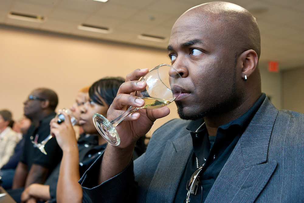 A wine tasting of Treleaven Wines from the King Ferry Winery of NY after the presentation of First Annual Social Enterprise Award to HIV Law Project. The event was a part of the 19th Annual GLBT Expo on March 17-18, 2012 at the Jacob Javits Center in New York.