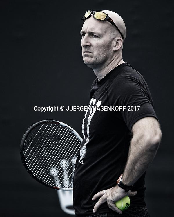 Team Zverev, Training, Fitness Trainer Jez Green.<br /> <br /> Tennis - Australian Open 2017 - Team-Zverev-Australian-Open-2017 -  Melbourne  Park - Melbourne - Victoria - Australia  - 14 January 2017.