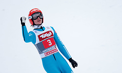 04.01.2015, Bergisel Schanze, Innsbruck, AUT, FIS Ski Sprung Weltcup, 63. Vierschanzentournee, Innsbruck, Finale, 2. Wertungssprung, im Bild Richard Freitag (GER) // Richard Freitag of Germany reacts after his first competition Jump for the 63rd Four Hills Tournament of FIS Ski Jumping World Cup at the Bergisel Schanze in Innsbruck, Austria on 2015/01/04. EXPA Pictures © 2015, PhotoCredit: EXPA/ Jakob Gruber