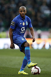 January 12, 2019 - Lisbon, Portugal - Yacine Brahimi of Porto  in action  during Primeira Liga 2018/19 match between Sporting CP vs FC Porto, in Lisbon, on January 12, 2019. (Credit Image: © Carlos Palma/NurPhoto via ZUMA Press)