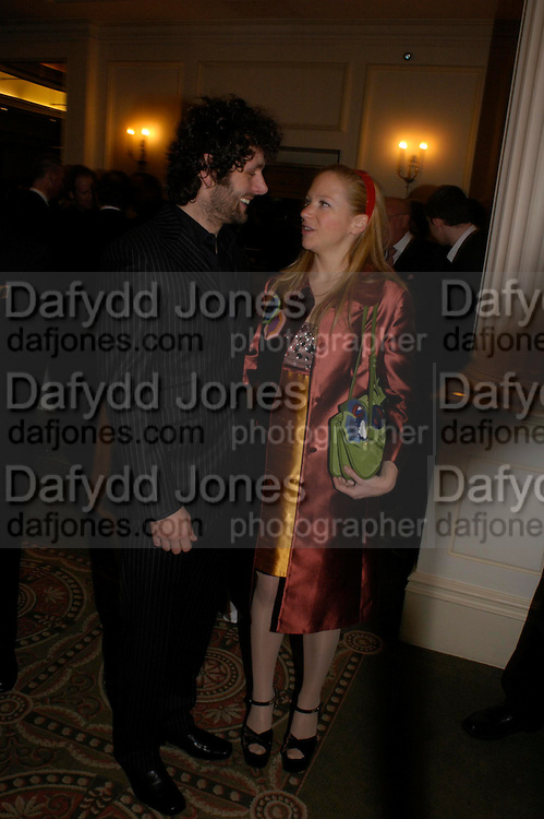 Michael Sheen and Nathalie Press. South Bank Show Awards, The Savoy Hotel. London. 27 January 2005. ONE TIME USE ONLY - DO NOT ARCHIVE  © Copyright Photograph by Dafydd Jones 66 Stockwell Park Rd. London SW9 0DA Tel 020 7733 0108 www.dafjones.com