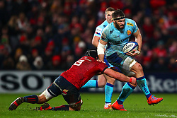 Don Armand of Exeter Chiefs in action against CJ Stander of Munster Rugby - Mandatory by-line: Ken Sutton/JMP - 19/01/2019 - RUGBY - Thomond Park - Limerick,  - Munster Rugby v Exeter Chiefs -