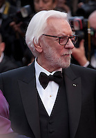 Actor Donald Sutherland at the gala screening for Woody Allen's film Café Society at the 69th Cannes Film Festival, Wednesday 11th May 2016, Cannes, France. Photography: Doreen Kennedy