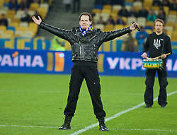 KIEV, UKRAINE - Easter Monday, March 28, 2016: Tim Soncya of Sun Shadow performs before the International Friendly match against Ukraine and Wales at the NSK Olimpiyskyi Stadium. (Pic by David Rawcliffe/Propaganda)