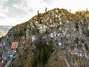 Entiat's Numeral Mountain has been a tradition since 1923. Each year, seniors design their graduating year number, and paint it on the steep cliffs overlooking the Entiat River. Numeral Mountain is well known and has been publicized in Life Magazine and National Geographic.