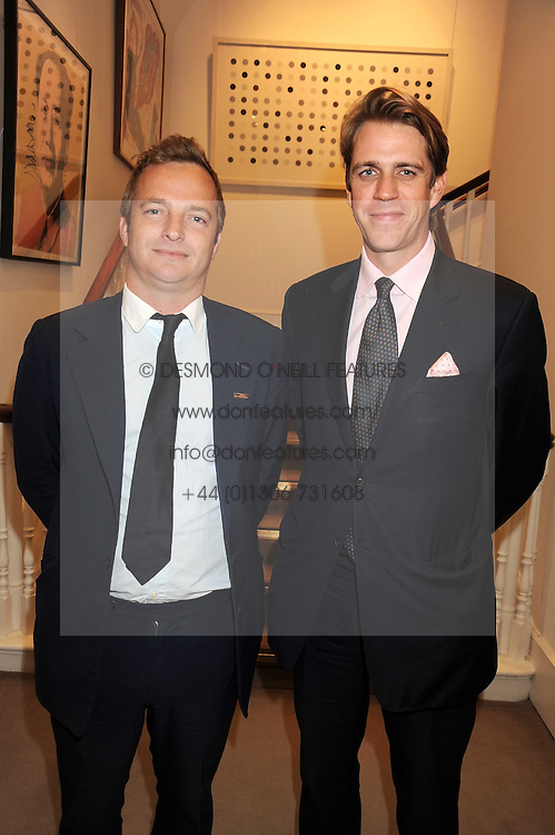 Left to right, EDWARD SEARLE Commercial Director of Luxury Publishing Ltd and BEN ELLIOT at the Spear's Wealth Management Awards held at Sotheby's, 34-35 New Bond Street, London on 29th September 2008.