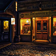 Photo of a restaurant store front on the Streets of Old Milwaukee.