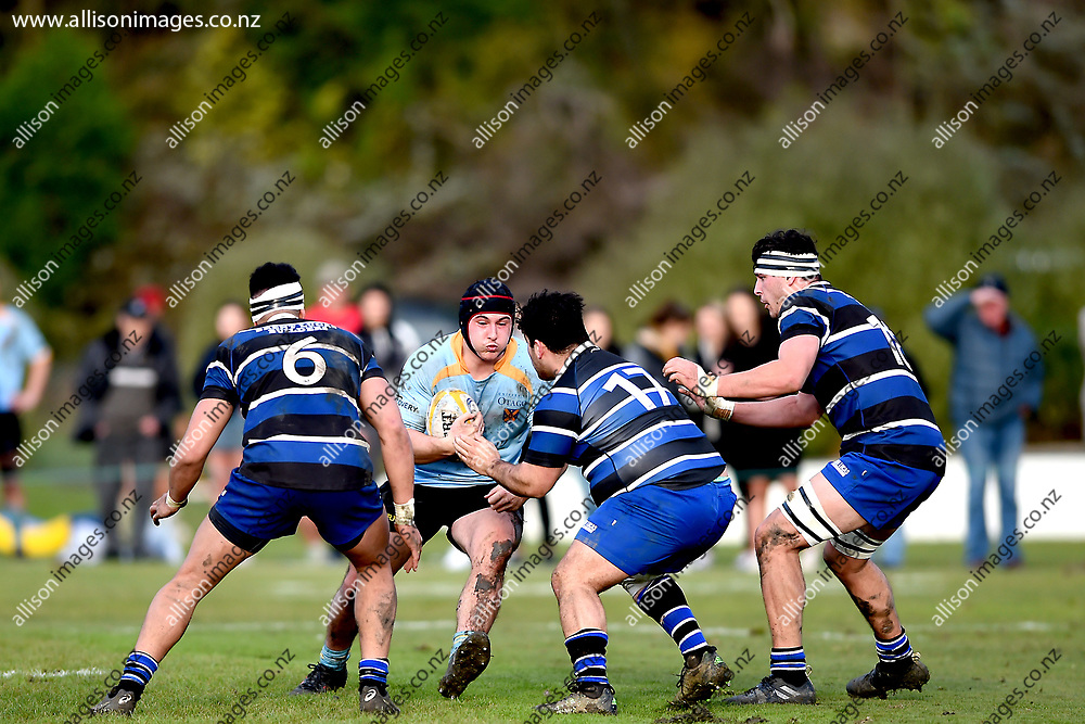 Ricky Jackson. University Premier's vs Kaikorai Premier's, Dunedin Premier Rugby Semi Final, University Oval, Dunedin, New Zealand, 28 July 2018. Credit: Joe Allison / allisonimages.co.nz