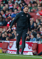 Football - 2018 / 2019 Premier League - Arsenal vs. Southampton<br /> <br /> Ralph Hasenhuttl (Manager of Southampton FC) reacts to his team creating an opportunity at The Emirates.<br /> <br /> COLORSPORT/DANIEL BEARHAM