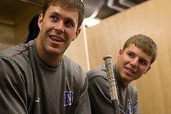 18 May 2008: Duke Blue Devils midfielder Bo Carrington (31) and attackman Justin Turri (12) before a 21-10 win over the Ohio State Buckeyes during the NCAA quarterfinals held at Cornell University in Ithaca, NY.