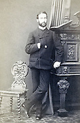 portrait man standing late 1800s