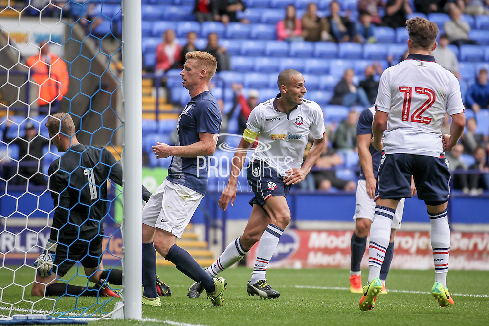 Darren Pratley (Bolton Wanderers) turns away, thinking Bolton have scored, only for it to be disallowed during the Pre-Season Friendly match between Bolton Wanderers and Preston North End at the Macron Stadium, Bolton, England on 30 July 2016. Photo by Mark P Doherty.