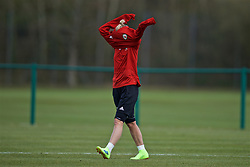 CARDIFF, WALES - Tuesday, April 2, 2019: Wales' Jessica Fishlock during a training session at the USW Sport Park ahead of a friendly against the Czech Republic. (Pic by David Rawcliffe/Propaganda)