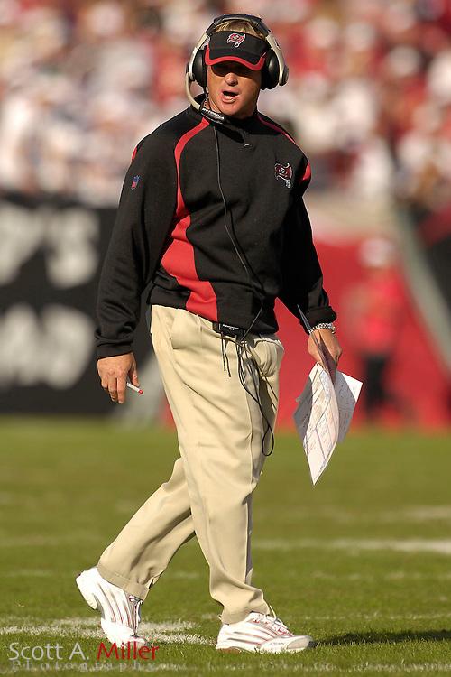 Nov. 19, 2006; Tampa, FL, USA;  Tampa Bay Buccaneers coach Jon Gruden during his team's 20-10 win over the Washington Redskins at Raymond James Stadium. ...©2006 Scott A. Miller