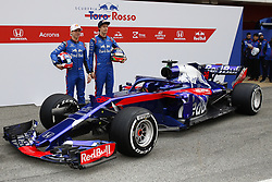 February 26, 2018 - Barcelona, Catalonia, Spain - February 26, 2018 - Circuit de Barcelona-Catalunya, Montmelo, Spain - Formula One preseason 2018; Pierre GASLY from France of Team Scuderia Toro Rosso Honda, Toro Rosso STR13 and Brendon HARTLEY from New Zeland of Team Scuderia Toro Rosso Honda, Toro Rosso STR13. (Credit Image: © Eric Alonso via ZUMA Wire)