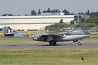 De Havilland Vampire XJ771, Farnborough International Airshow, Farnborough Airport UK, 18 July 2014, Photo by Richard Goldschmidt