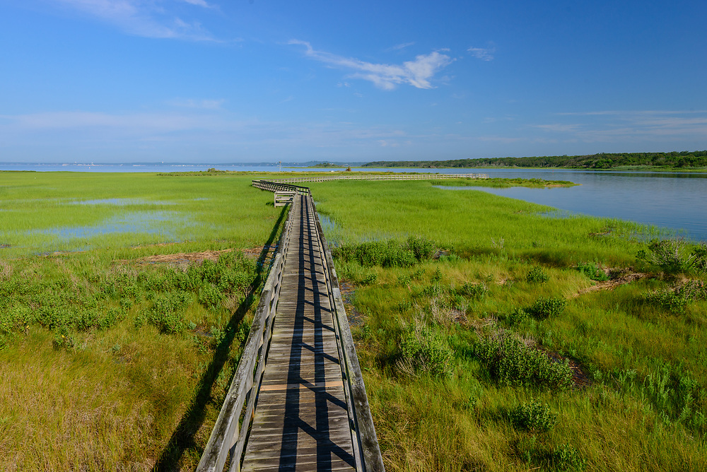 Munn Point, Boardwalk, Shinnecock Bay, Meadow Lane, Southampton,Long Island, New York