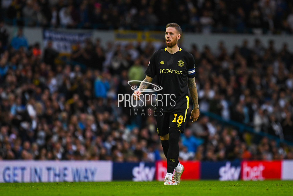 Brentford defender Pontus Jansson (18) in action during the EFL Sky Bet Championship match between Leeds United and Brentford at Elland Road, Leeds, England on 21 August 2019.