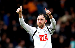 Richard Keogh of Derby County celebrates the victory over Nottingham Forest - Mandatory by-line: Robbie Stephenson/JMP - 11/12/2016 - FOOTBALL - iPro Stadium - Derby, England - Derby County v Nottingham Forest - Sky Bet Championship