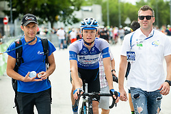 Aleksandr Vlasov (RUS) of Gazprom - Rusvelo and Josip Radakovic during 4th Stage of 26th Tour of Slovenia 2019 cycling race between Nova Gorica and Ajdovscina (153,9 km), on June 22, 2019 in Slovenia. Photo by Vid Ponikvar / Sportida