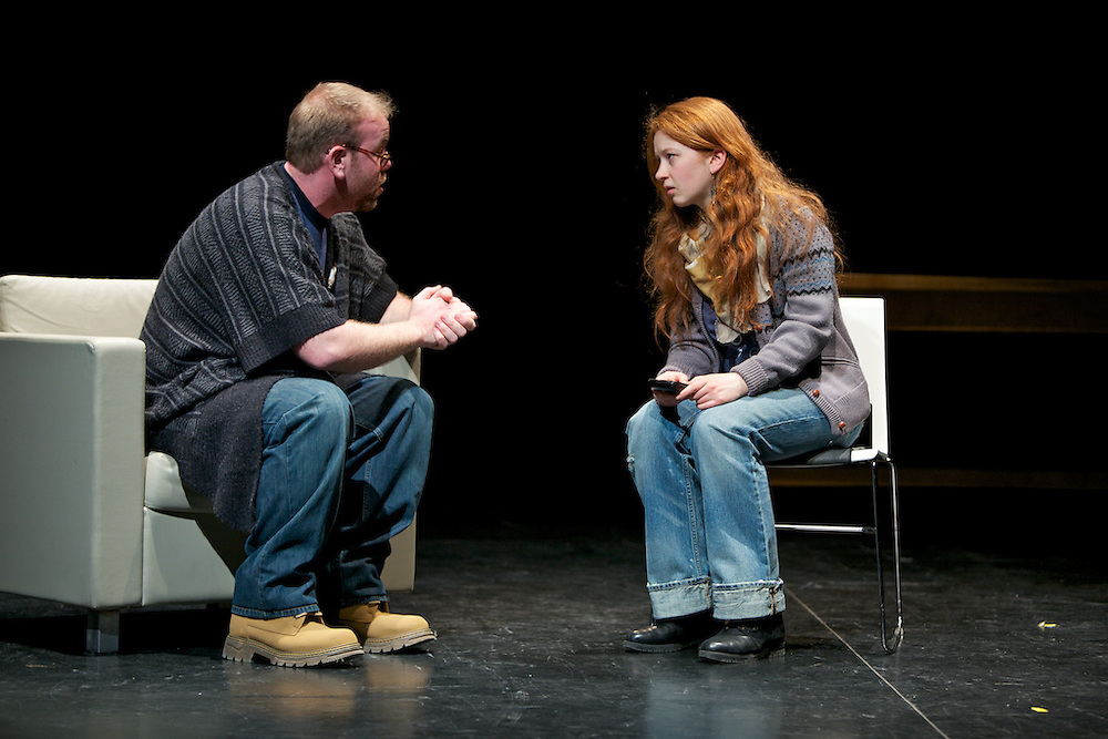 Theatre ___ Business: Fill Us In. .Written by the students of Annabel Soutar.Directed by Harry Standjofski..Concordia University theatre students attempt to connect with their business student co-tenants when they find themselves sharing the same building. Their struggle plays out against the backdrop of Canada's fierce debate about public funding for the arts...Theatre ___ Business: Fill Us In is an original play created in the style of verbatim theatre where scripts are development word-for-word from transcripts...(formerly billed as The Big Hairy Audacious Show and Documentary Drama).