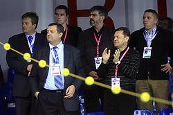 Ciril Globocnik, President of PZS Jure Prosen, Roman Jakic, mayor of Ljubljana Zoran Jankovic  at 4th day of  LEN European Short Course Swimming Championships Rijeka 2008, on December 13, 2008,  in Kantrida pool, Rijeka, Croatia. (Photo by Vid Ponikvar / Sportida)