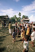 Village on Sepik River, Papua New Guinea, (editorial use only- no model release)<br />