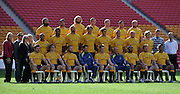 Australia pose for photographs during their Captains Run held at Suncorp Stadium on Friday 8th June 2012 on the eve of the Rugby Union International (1st Test) between Australia and Wales played at Suncorp Stadium (Brisbane) on Saturday 9th June May 2012 ~ Wales (?) defeated Australia (?) ~ Editorial Use only in accordance with ARU Terms & Conditions ~ Photo Credit Required : Steven Hight (AURA Images/Photosport)