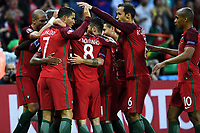 Nani of Portugal celebrates scoring with teammates Esultanza Gol <br /> Saint-Etienne 14-06-2016 Stadium Geoffroy-Guichard Football Euro2016 Portugal-Iceland / Portogallo-Islanda Group Stage Group F<br /> Foto Massimo Insabato / Insidefoto