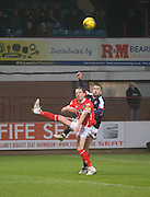 Dundee's Michael Duffy and St Mirren's former Dee Gary Irvine - Dundee v St Mirren in the William Hill Scottish Cup at Dens Park, Dundee. Photo: David Young<br /> <br />  - © David Young - www.davidyoungphoto.co.uk - email: davidyoungphoto@gmail.com