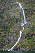 waterfall arc, Milford Sound, Fiordland, New Zealand