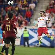 HARRISON, NEW JERSEY- OCTOBER 15: Sacha Kljestan #16 of New York Red Bulls in action during the New York Red Bulls Vs Atlanta United FC, MLS regular season match at Red Bull Arena, Harrison, New Jersey on October 15, 2017 in Harrison, New Jersey. (Photo by Tim Clayton/Corbis via Getty Images)