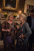CAROLE BLAKE; SUSAN WATT, The Walter Scott Prize for Historical Fiction 2015 - The Duke of Buccleuch hosts party to for the shortlist announcement. <br /> The winner is announced at the Borders Book Festival in Scotland in June.John Murray's Historic Rooms, 50 Albemarle Street, London, 24 March 2015.