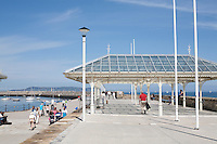 Dun Laoghaire Pier in Dublin Ireland on a sunny day June 2013