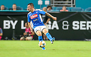 SSC Napoli midfielder Fabian Ruiz (8) receives a pass in a game against FC Barcelona during a La Liga-Serie A Cup soccer match, Wednesday, Aug. 7, 2019, in Miami Gardens, Fla. FC Barcelona beat Napoli 2-1 (Kim Hukari/Image of Sport)