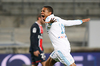 FOOTBALL - FRENCH CHAMPIONSHIP 2011/2012 - L1 - OLYMPIQUE MARSEILLE v PARIS SAINT GERMAIN  - 27/11/2011 - PHILIPPE LAURENSON / DPPI - JOY LOIC REMY (OM) AFTER IS GOAL
