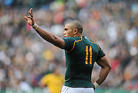 CAPE TOWN, SOUTH AFRICA - Saturday 28 September 2013, Bryan Habana of South Africa during the Castle Lager Rugby Championship test match between South Africa (Sprinkboks) and Australia (Wallabies) at DHL Newlands in Cape Town.<br /> Photo by Roger Sedres/ ImageSA