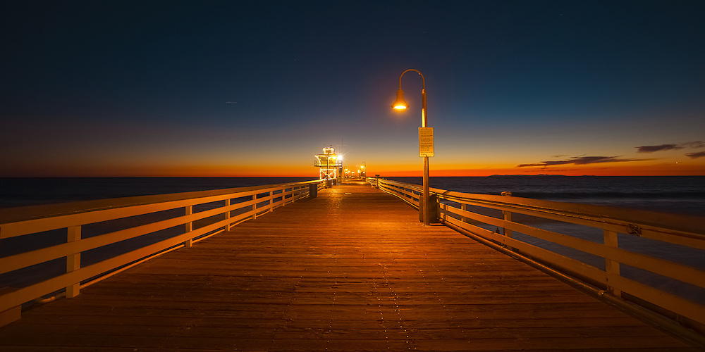 Sunset on the San Clemente pier