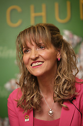 Sinn Fein's European Parliament Elections candidate Martina Anderson smiles during the launch of their party's Manifesto for the European Parliament Elections, in Belfast, Northern Ireland, Monday May 12th, 2014. Sinn Fein are putting forward four candidates for the European Elections on May 22. Monday, 12th May 2014. Picture by i-Images