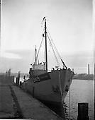 1957 - Fishing boats at Ringsend, Dublin