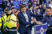 Rangers Manager Steven Gerrard with his fans following  the Ladbrokes Scottish Premiership match between Rangers and Celtic at Ibrox, Glasgow, Scotland on 12 May 2019.