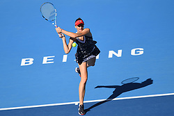 BEIJING, Oct. 3, 2018  Karolina Pliskova of Czech Republic hits a return during the women's singles second round match against Aliaksandra Sasnovich of Belarus at China Open tennis tournament in Beijing, China, Oct. 3, 2018. Karolina Pliskova won 2-0. (Credit Image: © Ju Huanzong/Xinhua via ZUMA Wire)